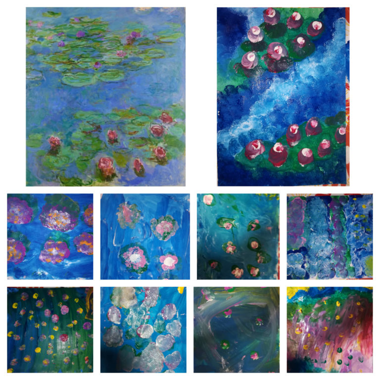 Τα Γιγαντάκια ζωγραφίζουν Όσκαρ Κλοντ Μονέ